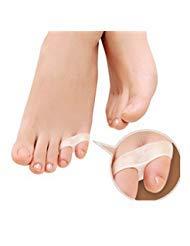 (Pack of 2 Pairs 4 PCS) Dr.Tu Silicone Gel Little Toe Valgus Corrector Separator Straightener Protector