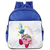 kirby backpack - VenC Girl's And Boy's Children Kid's Backpack Pre School Backpack Soft KIRBY SWORD Bags RoyalBlue