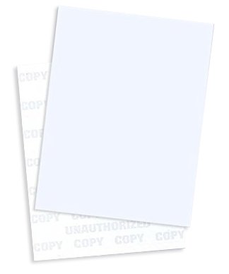 Multi-Purpose UNAUTHORIZED COPY Security Paper, (Pack of 50 Sheets Blue)