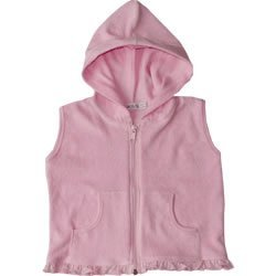 Under the Nile Organic Cottn Terry Pink Vest Toddler Sizes 2T-4T (2T)