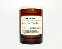Scentsational Amber & Vanilla Candle No. 02 Natural Soy Candle 11 oz.