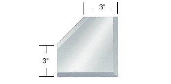 "Clear Mirror Glass 3"" Mitered Corner Beveled on 3 Sides"