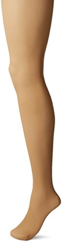 Image of Hanes Silk Reflections Women's Perfect Nudes Micro-net Control Top Pantyhose, Buff, MEDIUM