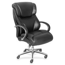 "La-Z-Boy Executive Chair - Black - Faux Leather - 32.8"" Width x 27.8"" Depth x 45.3"" Height LZB48080"