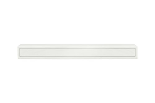 Pearl Mantels 612-48 Sarah Mantel Shelf, 48-Inch, White Paint Decorative Fireplace Mantels
