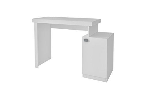 Manhattan Comfort Bagno Modern Style Level Office Work Desk With Door Concealed Cubby, - Doors Table Work