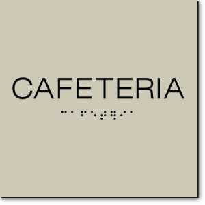 Cafeteria Sign-Taupe//Black 3 Units