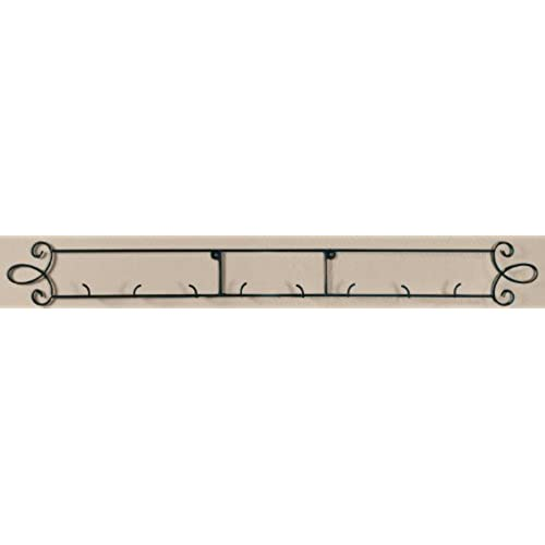 Augusta Black Horizontal Plate 44.75 W Wall 4-Place Rack  sc 1 st  Amazon.com & Decorative Plate Rack: Amazon.com