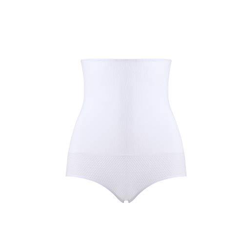 Gaiyi High Waist Tummy Control Shapewear, Postpartum Underwear for Women with Butt Lifter, Waist Trainer Girdle Panties White