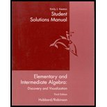 Elementary and Intermediate Algebra, Hubbard, Elaine, 0618162372