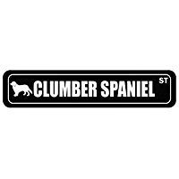 Clumber Spaniel Street Silhouette - Dogs - Street Sign [ Decorative Crossing Sign Wall Plaque ]