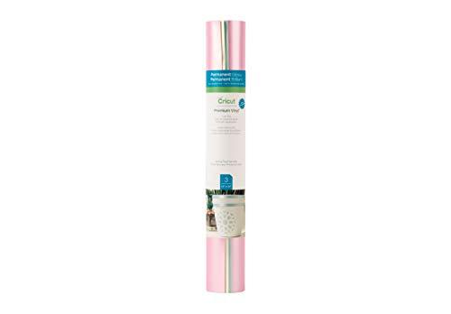 Cricut Premium Vinyl - Permanent, 12 x 12 Adhesive Decal Sheets Pearl Pastel Spring Sampler - Pink, Ivory, Mint