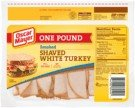 OSCAR MAYER LUNCH MEAT COLD CUTS SHAVED WHITE TURKEY SMOKED 16 OZ PACK OF 2