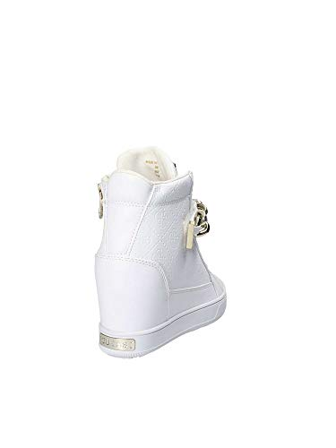 Guess Bianco Donna Camoscio Tronchetto Leese In zxX7Tzwqr