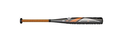 DeMarini Voodoo -12 Drop Tee Ball Bat, Gray/Orange/Black, 26'/14 oz