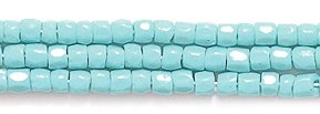 (Preciosa Ornela Czech 3-Cut Style Seed Glass Bead, Size 9/0, Opaque Turquoise Green)