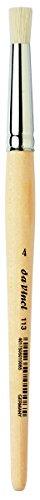 da Vinci Graphic Design Series 113 Stencil Brush, White Chinese Hog Bristle with Long Plainwood Handle, Size 4