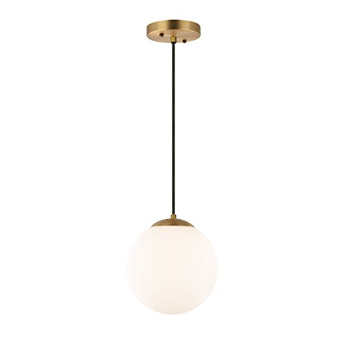 Brass Globe Pendant Light