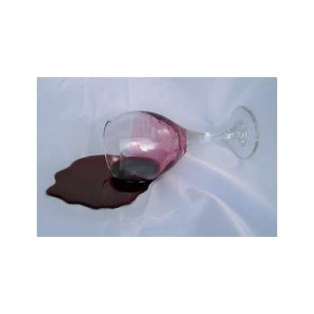 Fake Glass of Spilled Wine