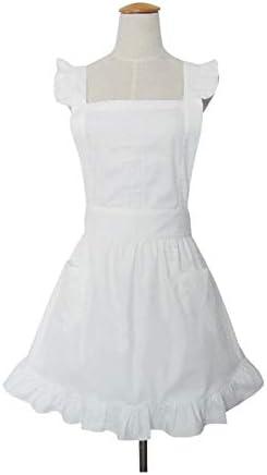 Love Potato Cute r/étro Blanc de Cuisine de Restaurant Tabliers de Femme pour Femme Filles Serveuse Tablier pour Cadeau