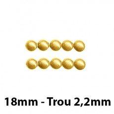 5 Perles magiques 18 mm Doré Grade A