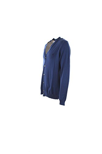 Cardigan Uomo Henry Cotton's XL Blu 94409-01-90485 Primavera Estate 2016