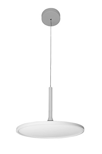 VONN VMC31810SW Modern LED Disc Chandelier Lighting with Adjustable Hanging Light, White