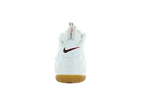 Nike Air Foamposite Pro Männer Basketballschuhe Weiß / Weiß / Gym Red / Grg Grün