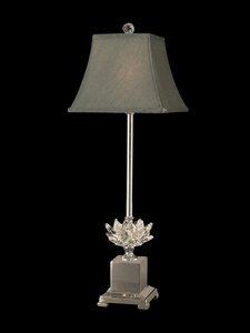 Dale Tiffany Fabric - Dale Tiffany GB11208 Lucinda Crystal Buffet Lamp, Polished, 8