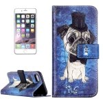 MAUBHYA For iPhone 8 Plus & 7 Plus Embossed Cat with Hat Pattern Horizontal Flip Leather Case with Card Slots & Wallet & Holder