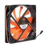 Cougar Turbine Hyperspin 12CM 60 CFM 17.7 dBA Silent Cooling Fan, Orange CFT12S4