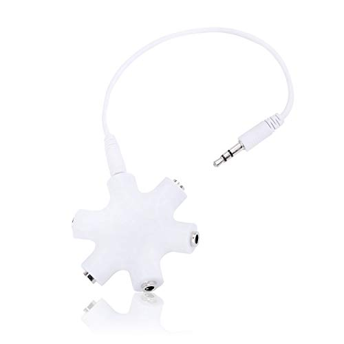 Elemart Headphone Splitter - 3.5mm Octopus 1 to 5 Headphone