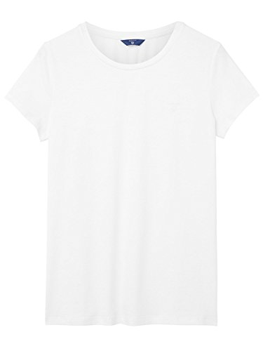 GANT Women's 1801405415110 White Cotton T-Shirt