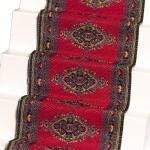 Melody Jane Dollhouse Woven Stair Carpet Runner Red 1:12 Miniature Flooring