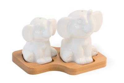 (SALT & PEPPER SHAKERS - 3 PIECE SET (Elephants))