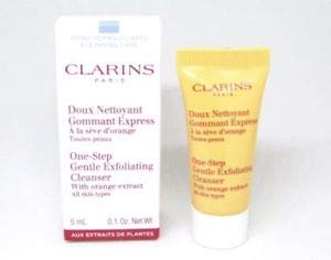 CLARINS One Step Gentle Exfoliating Cleanser with Orange Extract, 0.1 oz / 5 ml, Sample Travel ()