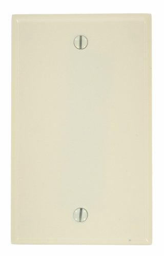 Leviton 78014 000-000 1-Blank Standard Size Wall Plate, 1 Gang, 4-1/2 in L X 2-3/4 in W 0.22 in T, Light, 1 Pack, Almond