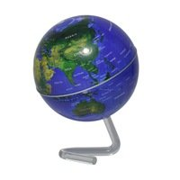 KAMUNG 4 inch Rotation magnetic Rotating Globe globe earth Battery Powered Desktop Globe World Map by KAMUNG