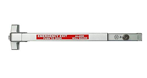 Commercial Door Push Bar Panic Exit Device with Alarm Sprayed ()