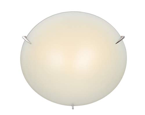 Lite Source Inc Source LS-5338PS/FRO Nick Flush Mount Lite with Frost Glass, 17