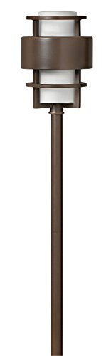 Hinkley Lighting 1579mt Saturn Path Light 18 Watt T5 Wedge Base Light Bulb Metro Bronze
