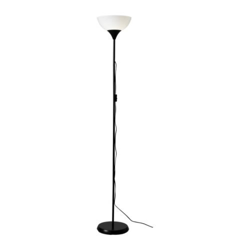 Ikea 10139879 NOT Floor Uplight Lamp 69 Inch Black White