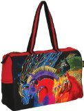 Laurel Burch Horses - Laurel Burch Travel Bag Zipper Top, 21-Inch by 8-Inch by 15-Inch, Wild Horses of Fire