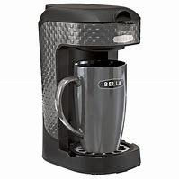 Bella One Scoop One Cup Single Serve Coffee Maker with Mug - 3D Square ... (Black)