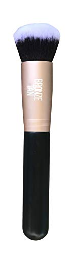 Bronze Tan Sunless Tanning Face Brush - Easily Apply Sunless Tanner to Face and Hard to Blend Areas