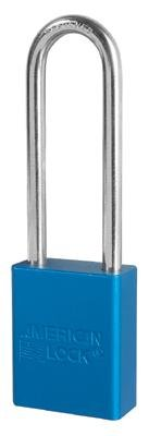 "American Lock Blue Padlock With 1 1/2"" Solid Aluminum Body 3"