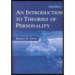 An Introduction to Theories of Personality, Ewen, Robert B., 080580109X
