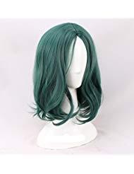 Women's Fashion Short Dark Green Cosplay Wigs