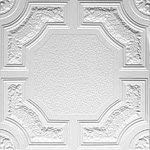 White Styrofoam Decorative Ceiling Tile Caracas Package of 8 Tiles  Other Sellers Call This Evergreen and R28