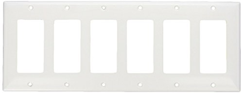 Morris 81161 Lexan Wall Plate, Decorative/GFCI, 6 Gang, White (2 Pack)
